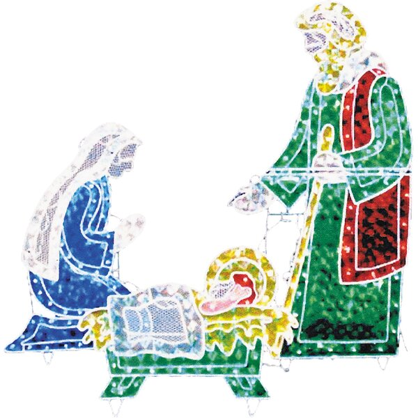 Holograph Nativity Frame Christmas Decoration by T