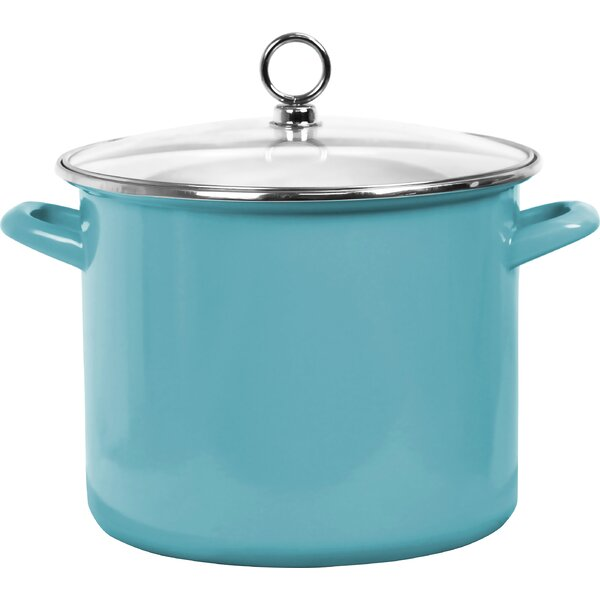 Calypso Basic Steel Stock Pot with Lid by Reston Lloyd