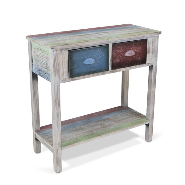 1 Shelf And 2 Drawer Console Table By Cheungs