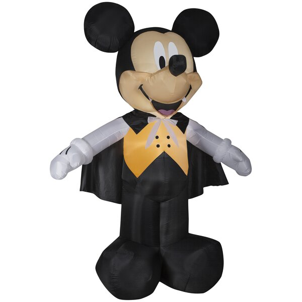 Mickey Vampire in Vest Giant Disney Inflatable by The Holiday Aisle