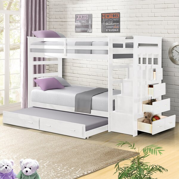Leyburn Twin Over Twin Bunk Bed With Trundle And Drawers By Harriet Bee by Harriet Bee Cool