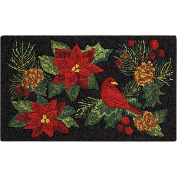 Doyal Hand-Tufted Black/Red Area Rug by The Holiday Aisle
