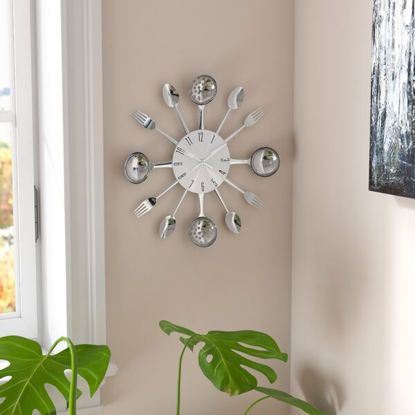 Bradly 15 Round Metal Kitchen Wall Clock by Zipcode Design