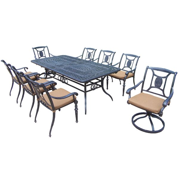 Victoria 9 Piece Dining Set with Cushions by Oakland Living