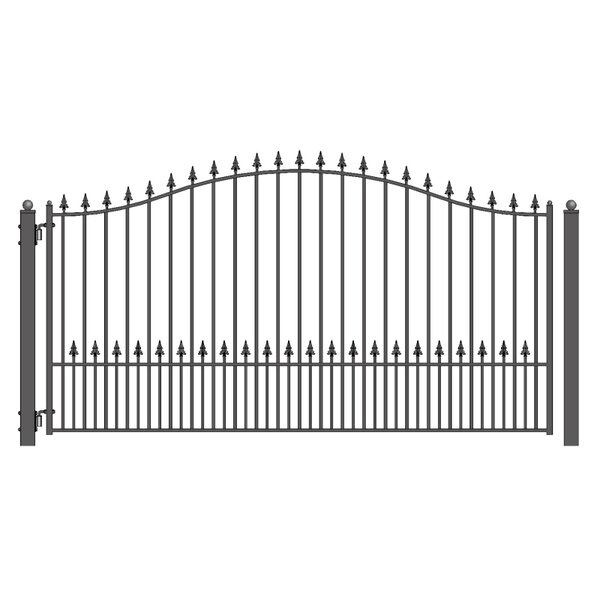 Munich Steel Single Swing Driveway Gate by ALEKO