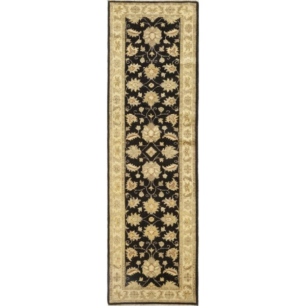 One-of-a-Kind Devan Hand-Knotted Wool Black/Beige Indoor Area Rug by Isabelline