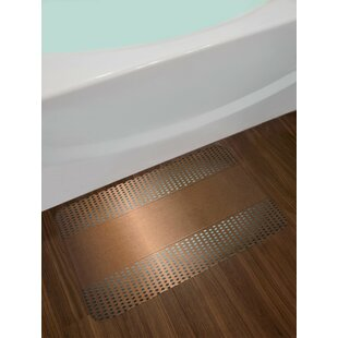 Perforated Ombre Bronze Industrial Bath Rug ByEast Urban Home