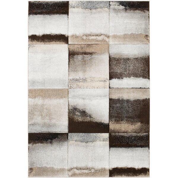 Mott Street Brown/Gray Area Rug by Wrought Studio