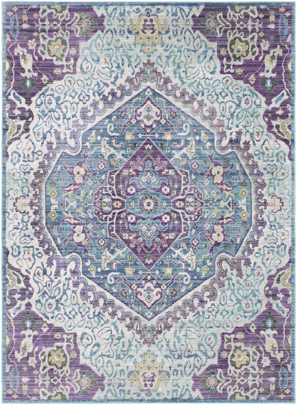 Purple And Blue Rug Rugs Ideas