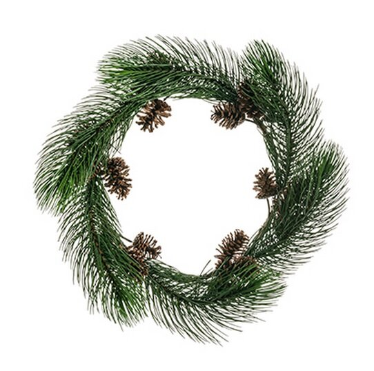 Long Pine Needle Artificial Christmas Wreath with Pine Cones Unlit by Northlight Seasonal