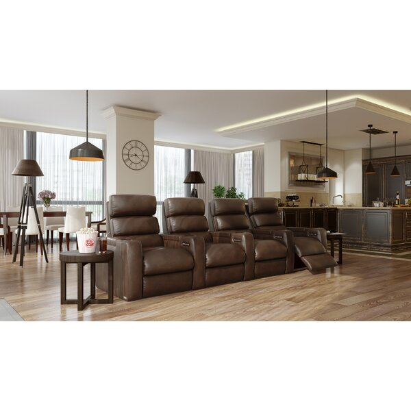 Power Leather Home Theater Configurable Seating By Orren Ellis