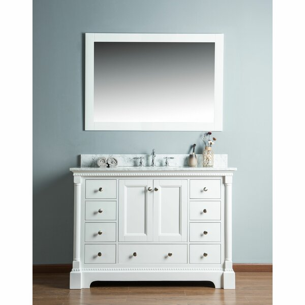 Rayleigh 48 Single Bathroom Vanity Set with Mirror by Charlton Home