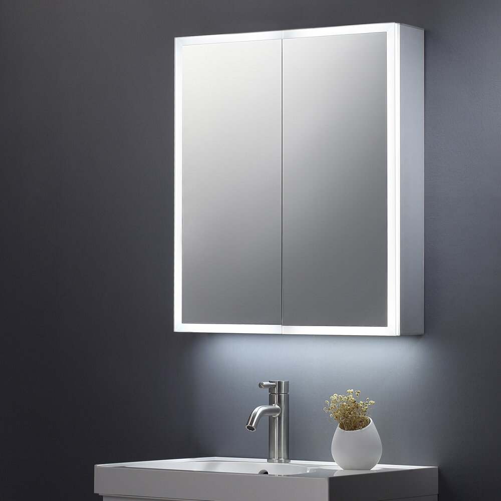 60cm H Wall Mounted Mirror Cabinet