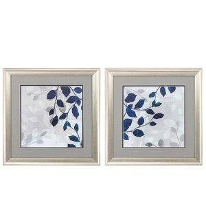 'Leaves in the Mist' 2 Piece Framed Painting Print Set by Propac Images