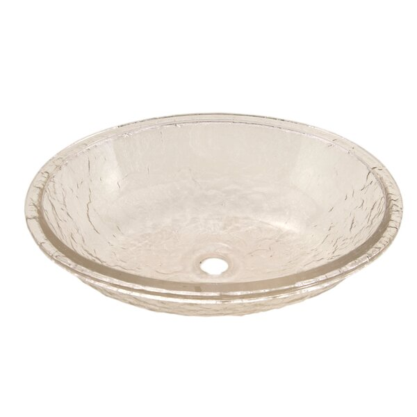 Glass Oval Undermount Bathroom Sink by JSG Oceana