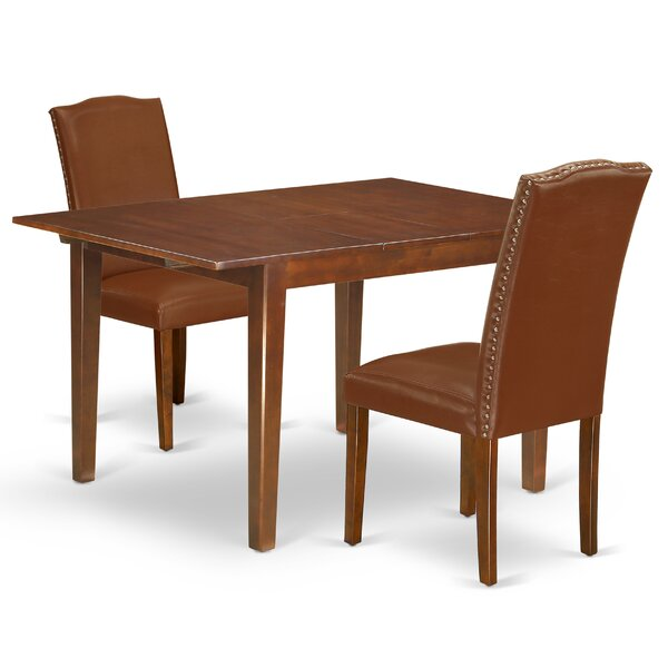 Iovanna 3 Piece Extendable Solid Wood Dining Set by Winston Porter Winston Porter