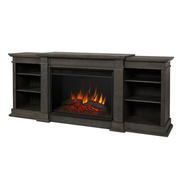 Eliot Grand 81 TV Stand with Fireplace by Real Flame