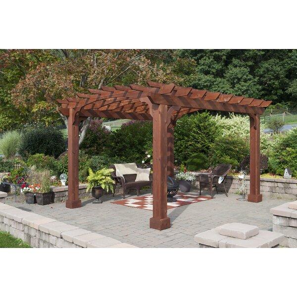 12 Ft. W x 14 Ft. W Solid Wood Pergola by YardCraft