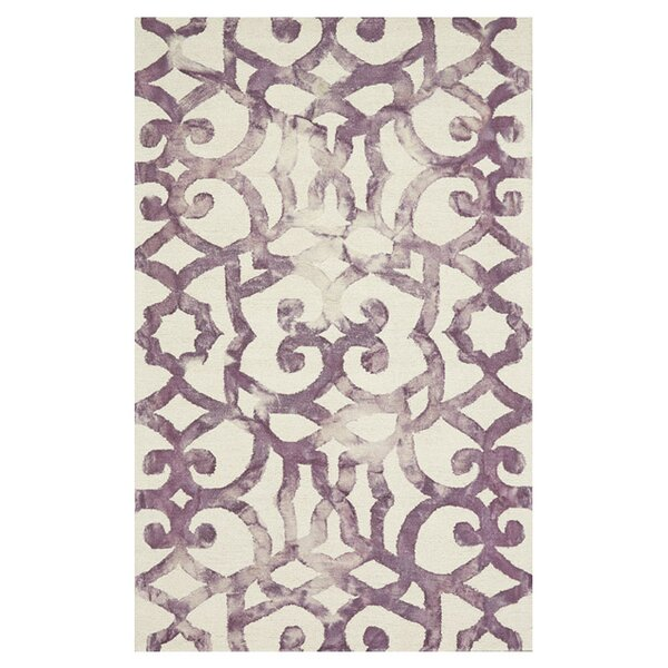 Rosser Hand-Hooked Violet Area Rug by Latitude Run