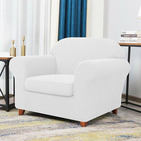 Howkwa Spandex Box Cushion Armchair Slipcover By Winston Porter