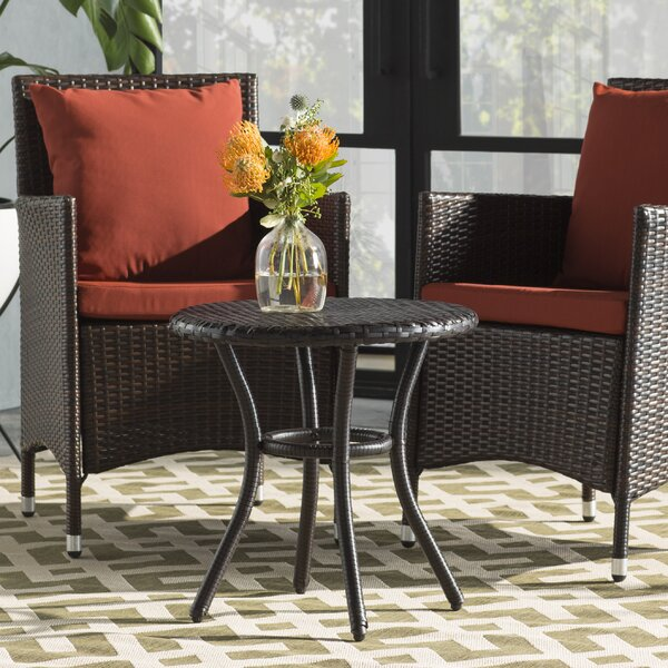 Belton Wicker/Rattan Side Table by Mercury Row