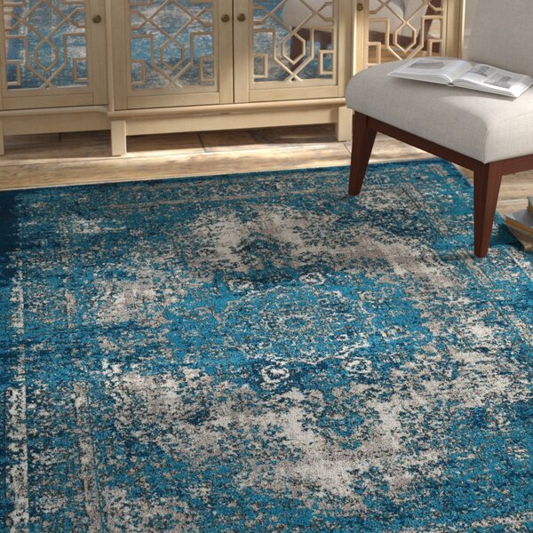 Star Blue/Gray Area Rug by Bungalow Rose