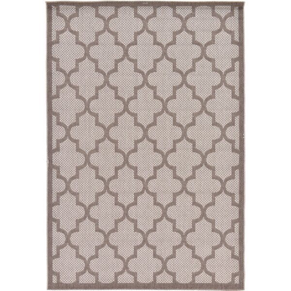 Perry Light Gray Outdoor Area Rug by Charlton Home