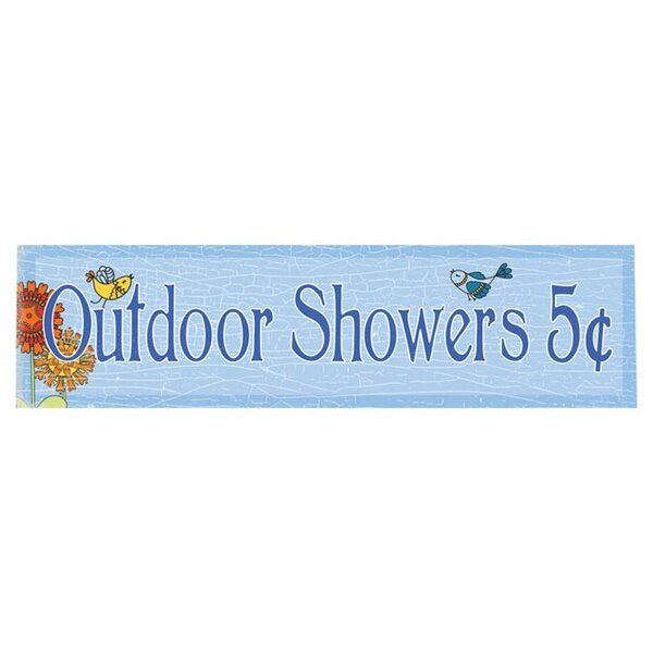 Outdoor Showers Graphic Art Print on Wood by Artehouse LLC