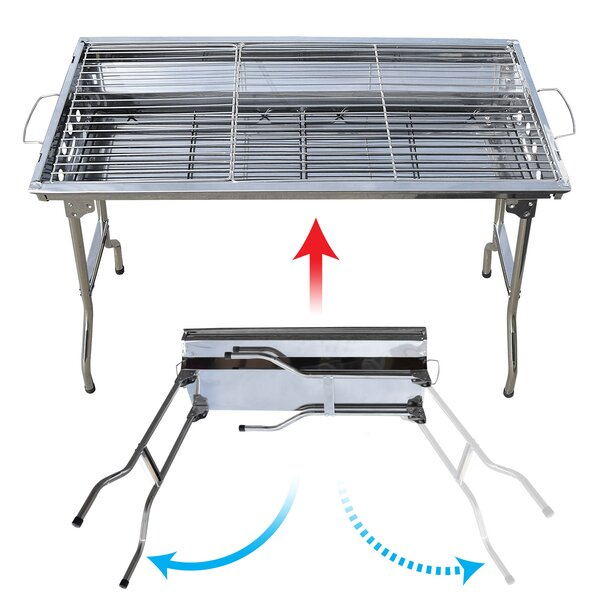 Foldable Large Barbecue Charcoal BBQ Grill Kabob Shashlik Cooking Stove by Sunrise Outdoor LTD