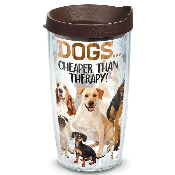 Pets Dog Therapy Plastic Travel Tumbler by Tervis Tumbler