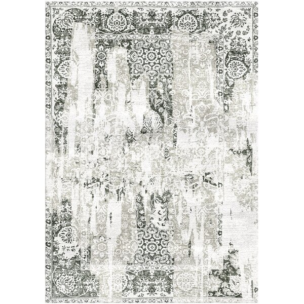 Aliza Handloom Gray/Ivory Area Rug by Bungalow Rose
