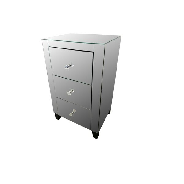 Uecker 3 Drawer Nightstand by Rosdorf Park
