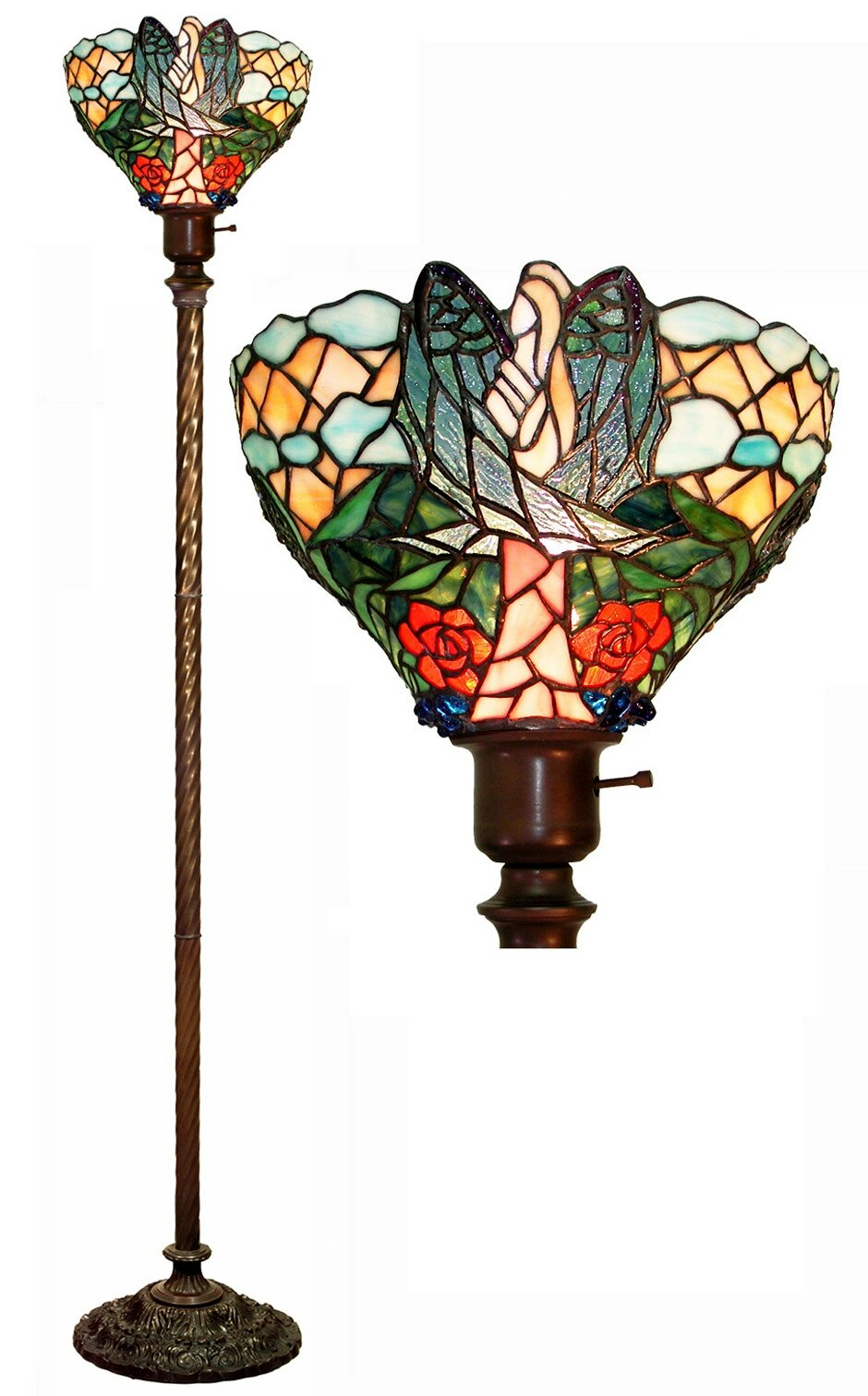 Astoria Grand Remy Angel 72 Torchiere Floor Lamp Reviews Wayfair