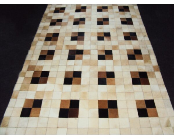 Patchwork Neutral Box Area Rug by Modern Rugs