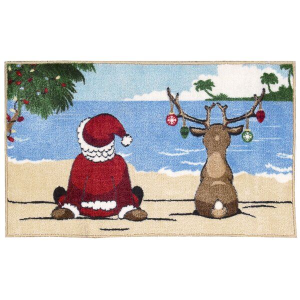 Alessa and Reindeer Area Rug by Highland Dunes