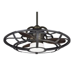 "26"" Wilburton 3 Blade Outdoor Ceiling Fan with Remote"