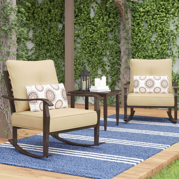 Centerville 3 Piece Conversation Set with Cushions by Charlton Home