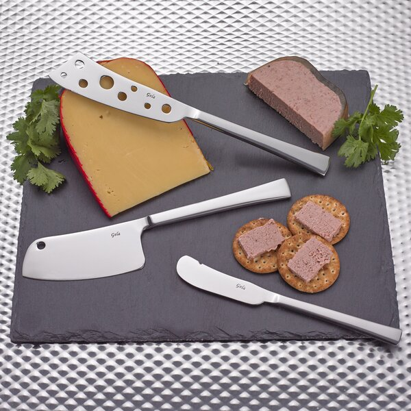 3 Piece Cheese Knives/Board Set by Gela Global