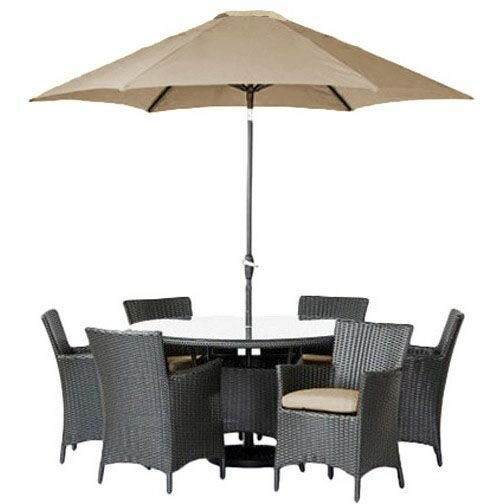 Brookfield 9 Piece Dining Set with Cushions