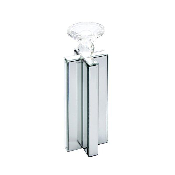 Mirror X Glass Candlestick by Orren Ellis