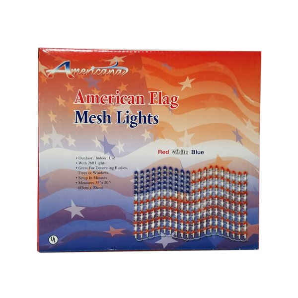 Large USA Flag Mesh 260 Light Net Lights by Sienna