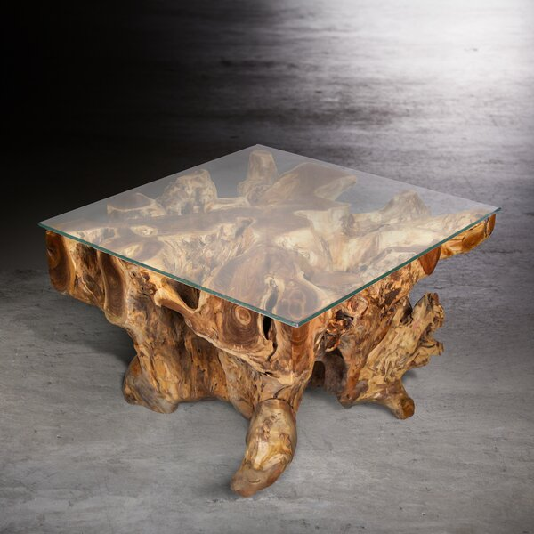 Organic Teak Coffee Table by Ibolili Ibolili