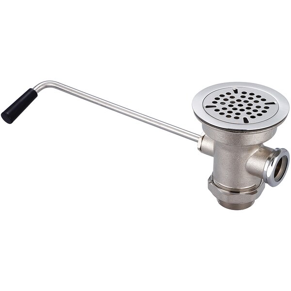 Waste Pop-Up Kitchen Sink Drain with Overflow by Central Brass