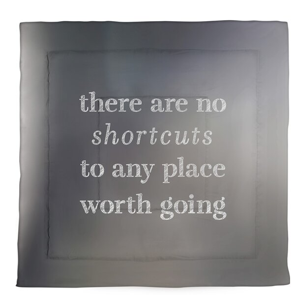 No Shortcuts Single Reversible Comforter