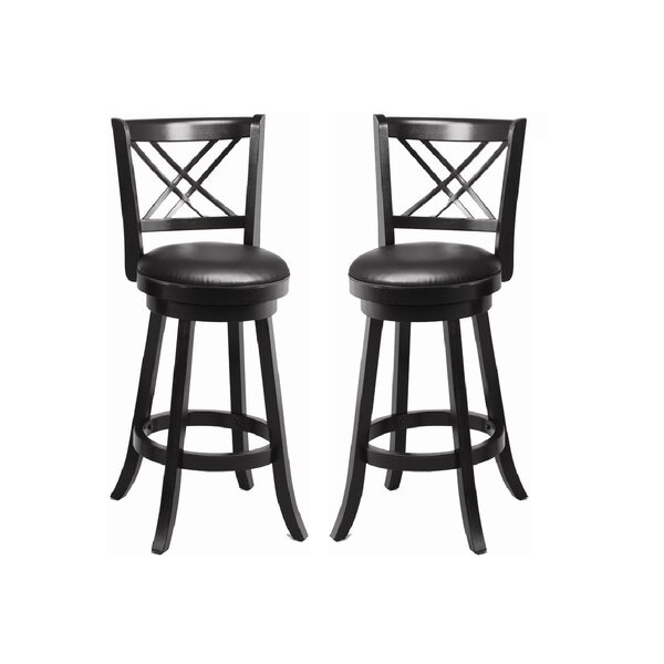 Cooper 29 Swivel Bar Stool (Set of 2) by Latitude Run