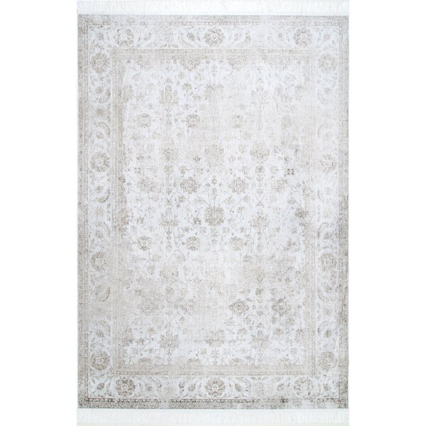 Center Drive Ivory Area Rug by Bungalow Rose