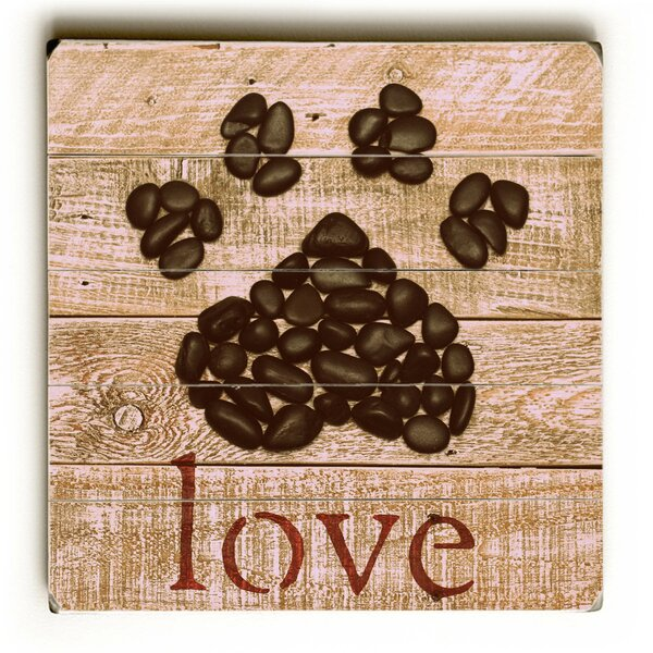 Love Paw Graphic Art Plaque by August Grove