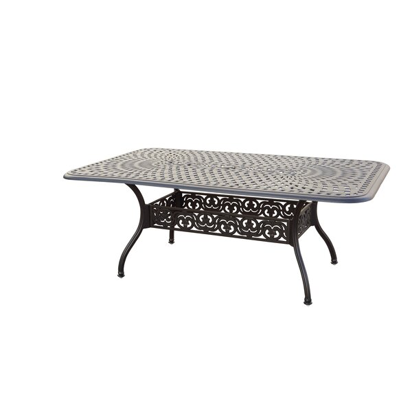 Goncalvo Extendable Aluminum Dining Table by Fleur De Lis Living