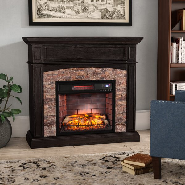 Garmon Boxwood Corner Infrared Media Electric Fireplace by Alcott Hill