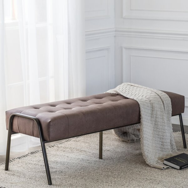 Pettengill Faux Leather Bench By Williston Forge